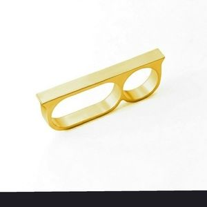 Two Fingers Knuckle Duster Gold